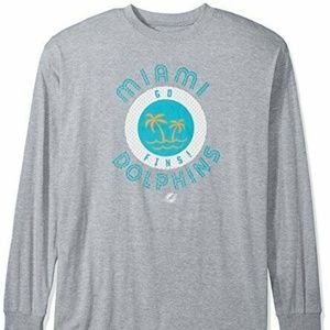 Nfl Miami Dolphins Men L/s Tee Screen Tee